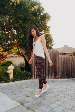 cotton H&M top - H&M pants - Zara heels