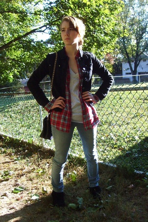 foxx jacket - Old Navy shirt - Gap shirt - delias jeans - sporto