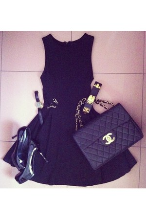 Zara dress - vintage Chanel bag - Hermes bracelet - YSL heels