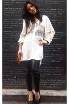 Shakuhachi dress - Aldo bag - Chanel flats - Zara pants - Mont Blanc watch - Lov