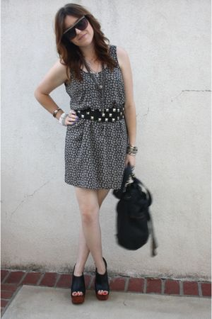 H&amp;M dress - f21 belt - Jeffrey Campbelleffrey Campbelle shoes - f21 purse - Spit