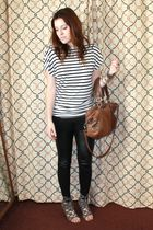 H&M blouse - H&M leggings - Deena  & Ozzy shoes - Steven by Steve Madden purse