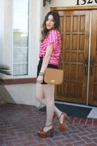 TJMaxx bag - TJMaxx blouse - Jessica Simpson heels