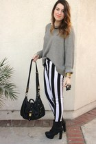 Motel Rocks pants - Steve Madden boots - Old Navy sweater - asos bag