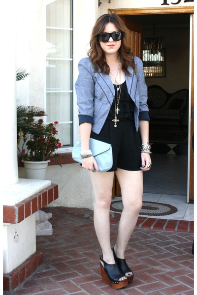 Urban Outfittersr jacket - H&M blouse - local fashion boutique shorts - Jeffrey
