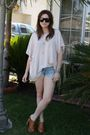 Unknown-brand-blouse-very-old-shorts-jeffrey-campbell-shoes