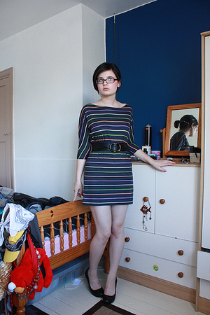 H&M dress - H&M belt - H&M shoes