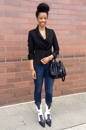 cotton Express blazer - skinny jean American Eagle jeans - Michael Kors bag