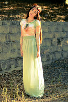 aquamarine maxi skirt Forever 21 skirt - ruby red Forever 21 accessories