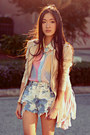 Shopakira-jacket-pastel-fringe-the-editors-market-bag-paradox-shorts
