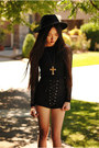 Lulus-shorts-lulus-boots-mesh-sleeve-sugarlips-dress-wide-brim-oasap-hat