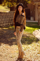 lita spikes Jeffrey Campbell boots - python print Love of Eos jeans