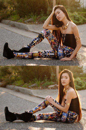 kukulkan Lovelysally leggings - snake arm cuff romwe bracelet