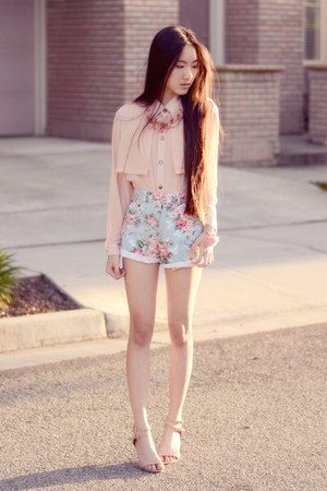 rosette chainless brain bracelet - floral denim ellysage shorts