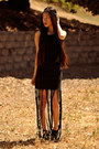 Black-love-dress-black-fringe-maxi-pacsun-skirt