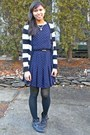 Navy-thrifted-dress