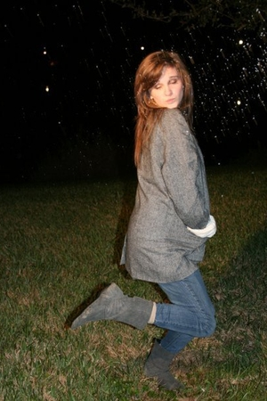 Urban Outfitters blazer - Urban Outfitters boots - Anthropologie socks