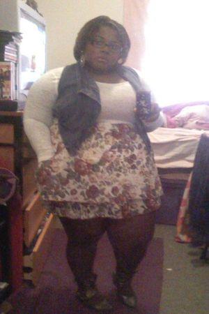 white alloy shirt - blue Forever21 vest - Target skirt - brown Target tights - Q