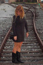 H-m-dress-gianni-bini-boots-target-purse-watch-accessories