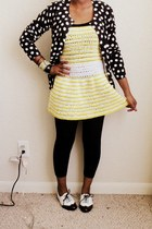 black polka dots Mossimo cardigan - white Steve Madden shoes