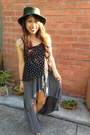 Teal-accessories-black-forever-21-top-heather-gray-brandy-melville-skirt