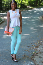 light blue H&M jeans - periwinkle H&M Trend top