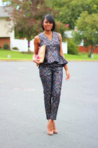 heather gray H&M pants - magenta H&M top