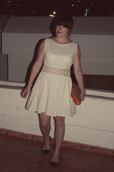 Topshop dress - thrifted bag