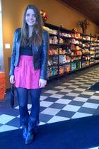 vintage jacket - vintage boots - Silence  Noise for UO skirt - vintage