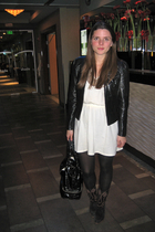 jacket - Marc by Marc Jacobs - boots - Whitney Eve dress