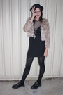 Black-dr-marten-school-shoes-shoes-black-vintage-dress-nude-vintage-jacket-
