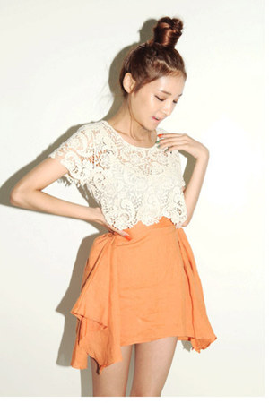tawny Style Nanda skirt - cream Style Nanda blouse