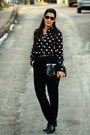 Black-karaca-shoes-black-h-m-shirt-black-mango-bag-silver-unbranded-access
