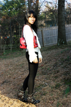 white barron duquette top - black citizens of humanity jeans - DIY miumiu boots