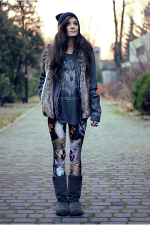 wolf Lovelysally leggings - gray winter Emu boots