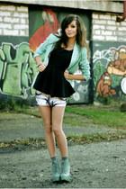 mint Bershka blazer - rocker Lovelysally skirt - peplum Peplum top