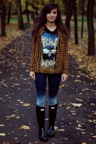 hunter Hunter boots - rocker Bershka top