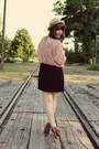 Black-forever-21-dress-tan-modcloth-hat-black-forever-21-heels-light-pink-
