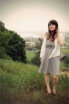 white lucca couture via threadsence dress - white Forever 21 top - brown Urban O