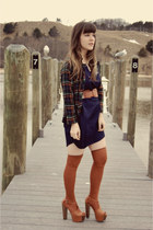 navy yaneldys via delightful dozen dress - tawny Urban Outfitters socks - navy t