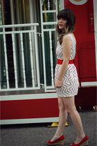 red moda via DSW shoes - white modcloth dress