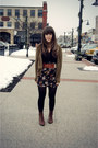 Dark-brown-vintage-crown-boots-black-target-tights-black-forever-21-skirt-