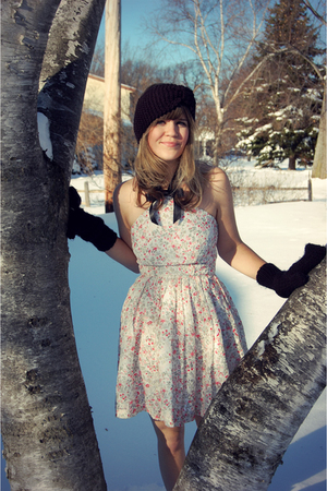 white Rodarte for Target dress - black bought at younkers gloves - black bought