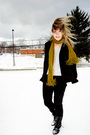 Black-forever-21-jeans-black-jeffrey-campbell-boots-green-target-scarf-gra