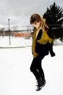 Black-forever-21-jeans-black-jeffrey-campbell-boots-green-target-scarf-gra