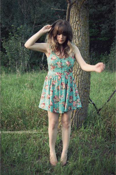 blue Urban Outfitters dress - pink dsw warehouse shoes