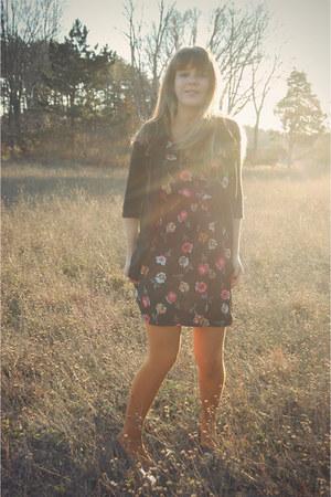 tawny modcloth tights - black Tucker for Target dress