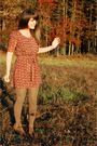 Brown-modcloth-dress-green-american-apparel-tights-brown-urban-outfitters-sh