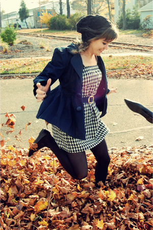 blue Forever 21 blazer - black Sam &amp; Libby shoes - black thrifted dress