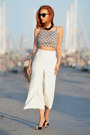 Zara-pants-nasty-gal-top-hm-necklace-christian-louboutin-heels